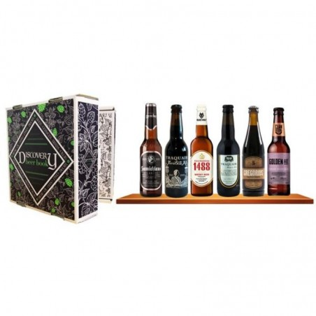 SELECTION BIERES ARTISANALES D'EXCEPTION 6*33CL DISCOVERY BEER BOOK