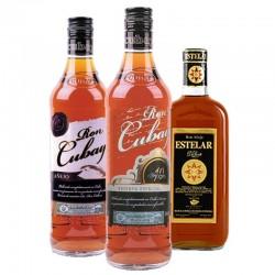 - BOX DECOUVERTE RHUMS N°1 - 3*70CL - ESTELAR + CUBAY 10YO +CUBAY ANEJO - Planète Drinks