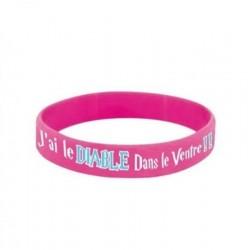 Bracelet PVC BELZEBUTH ROSEE