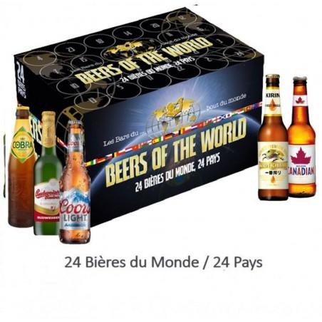 COFFRET BIERES DU MONDE 24 BIERES - 24 PAYS