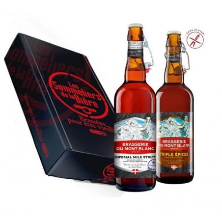 - COFFRET SOMMELIERS MONT BLANC IMPERIAL STOUT ET TRIPLE EPICES 2X75CL - Planète Drinks