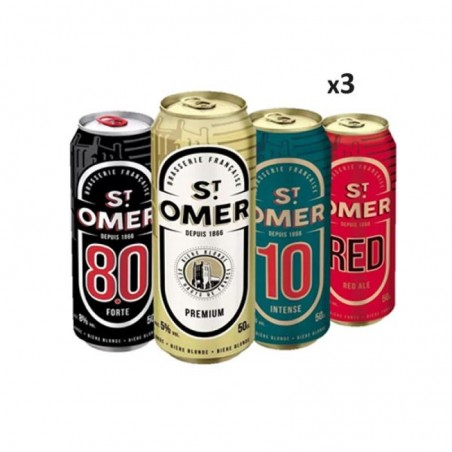- BOX DECOUVERTE SAINT OMER 12X50CL BOITE - Planète Drinks