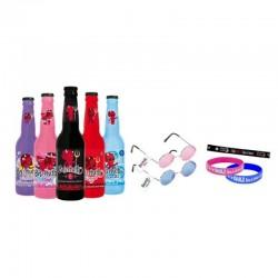 - BOX DECOUVERTE BELZEBUTH 5X33CL + BRACELETS + LUNETTES - Planète Drinks