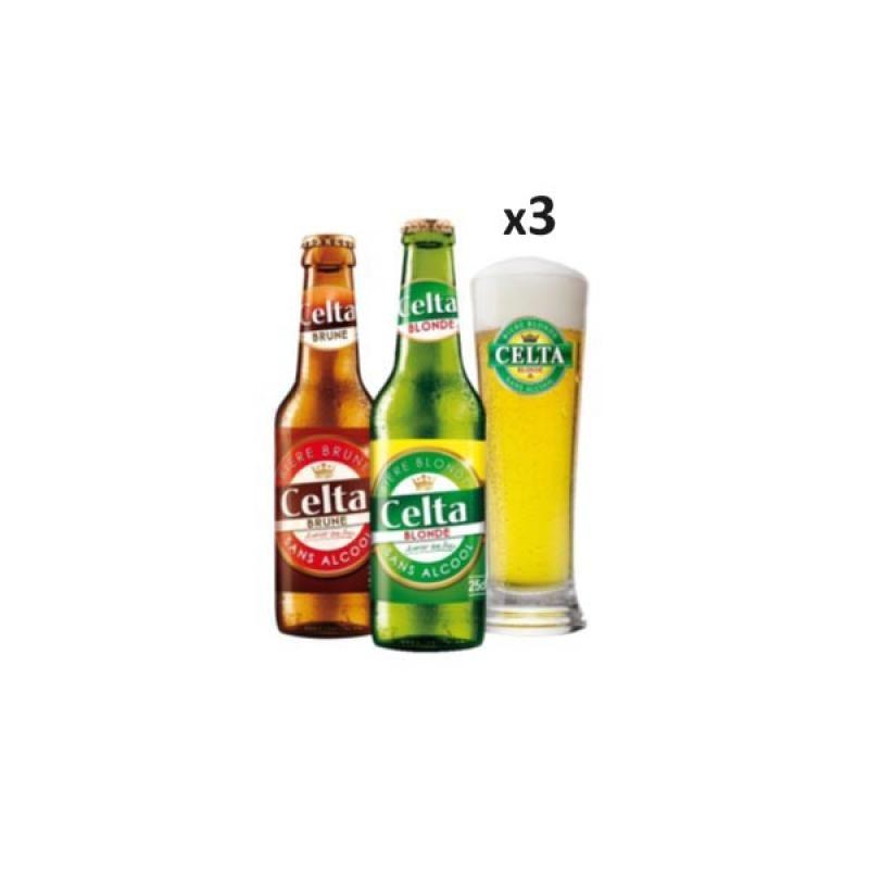 - BOX DECOUVERTE CELTA SANS ALCOOL 6X25CL + 3 VERRES - Planète Drinks