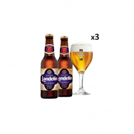 BOX DECOUVERTE SAINT LANDELIN 6X25CL + 3 VERRES