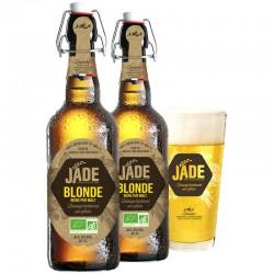 JADE BLONDE 2*65CL + 1 VERRE