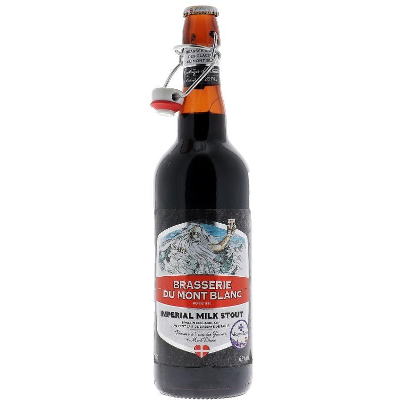 biere - MONT BLANC IMPERIAL MILK STOUT 75CL - Planète Drinks