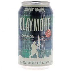 biere - GREAT DIVIDE CLAYMORE SCOTCH ALE 35.5CL CAN - Planète Drinks