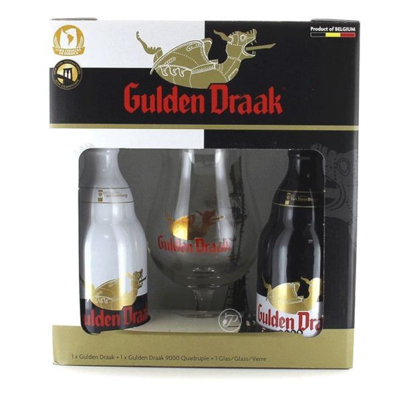 COFFRET BIERE - GULDEN DRAAK COFFRET 2*0,33L + 1VERRE - Planète Drinks