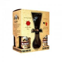 COFFRET BIERE - KWAK COFFRET BOIS 4*0.33+1 VERRE DUO - Planète Drinks