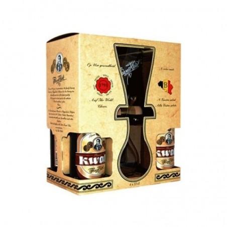 KWAK COFFRET BOIS 4*0,33CL + 1 VERRE DUO