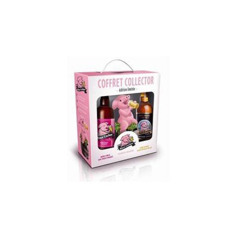 COFFRET BIERE - RINCE COCHON COFFRET COLLECTOR 2*0.75L + STATUETTE - Planète Drinks