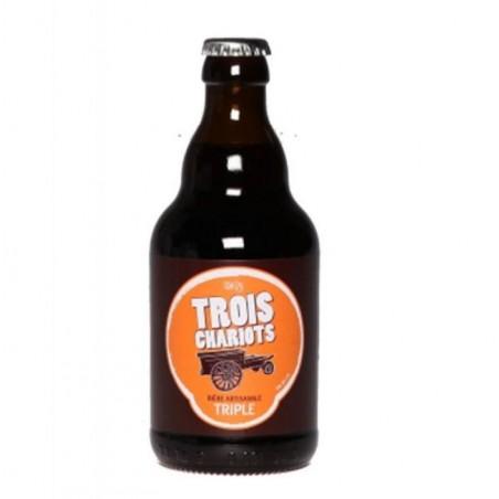 biere - DE SUTTER TROIS CHARIOTS TRIPLE 0,33L - Planète Drinks