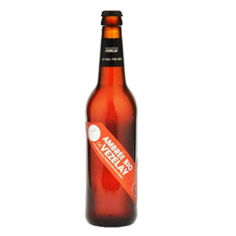 biere - VEZELAY BIO  AMBREE 0.25L - CERTIFIE FR-BIO-01 - Planète Drinks
