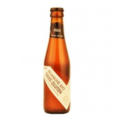 biere - VEZELAY BLANCHE BIO SANS GLUTEN 0.25L - CERTIFIE FR-BIO-01 - Planète Drinks