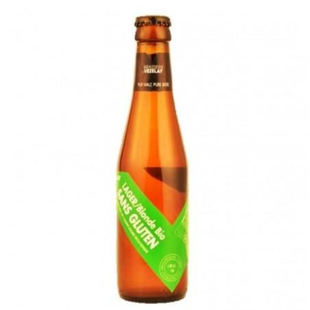 biere - VEZELAY LAGER BIO SANS GLUTEN 0.25L - CERTIFIE FR-BIO-01 - Planète Drinks