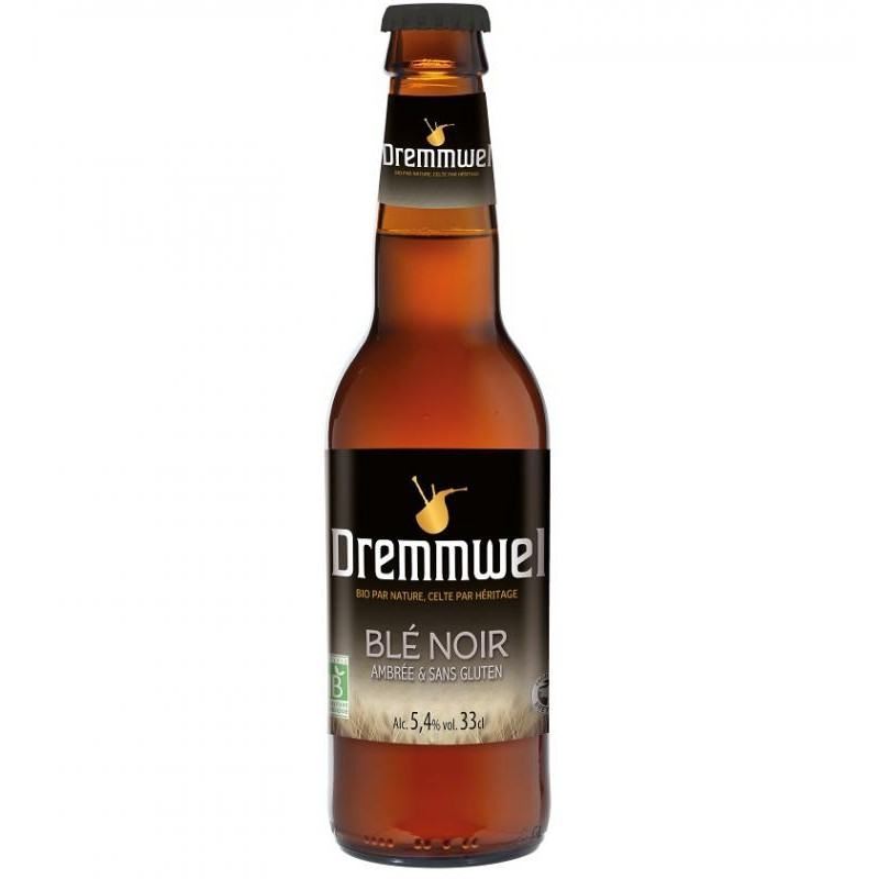 biere - DREMMWEL BLE NOIR 33CL - CERTIFIE FR-BIO-01 - Planète Drinks