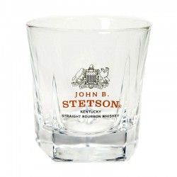 VERRE STETSON STRAIGHT BOURBON WHISKY 4CL