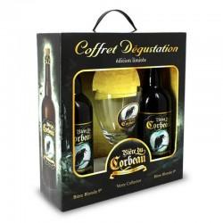 COFFRET BIERE - BIERE DU CORBEAU COFFRET 2*0,75L +1 VERRE MB - Planète Drinks