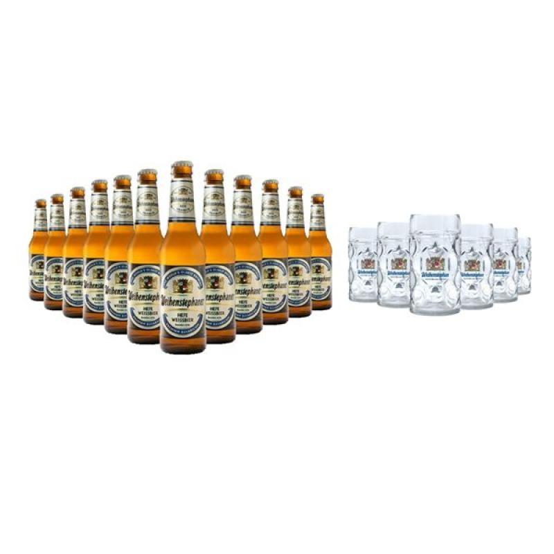 COFFRET BIERE - BOX WEIHENSTEPHANER 12 BIERES + 6 CHOPES - Planète Drinks