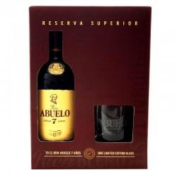 COFFRET ALCOOL - COFFRET RHUM ABUELO 7 ANS 70CL - Planète Drinks