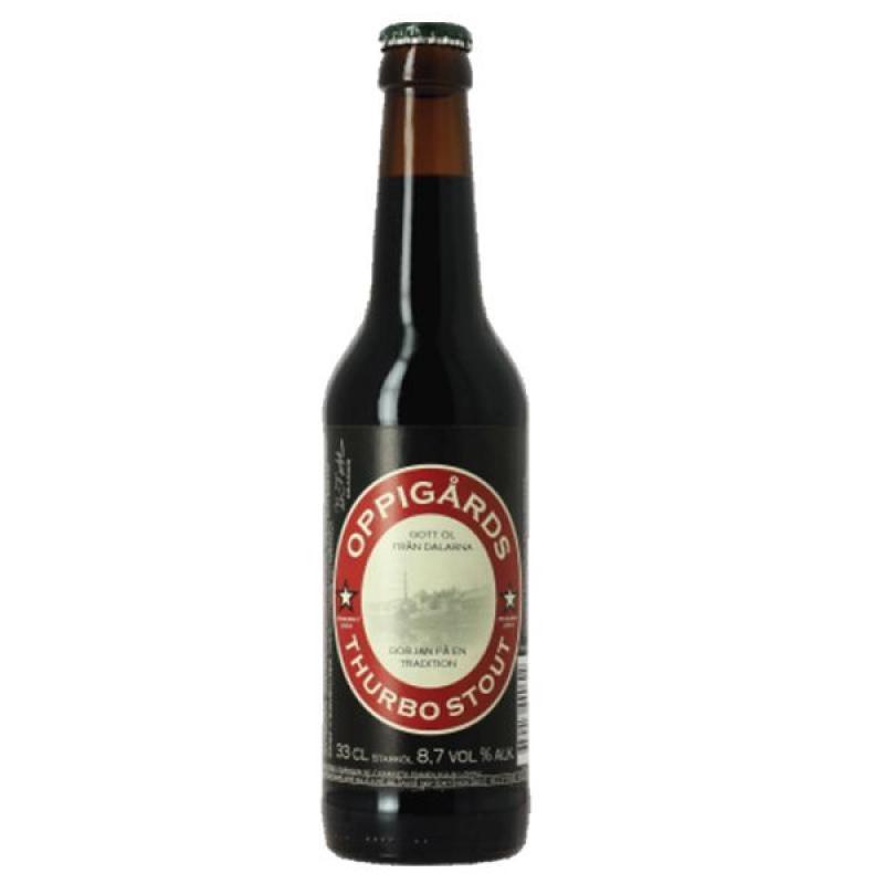 biere - OPPIGARDS BRYGGERI THURBO STOUT 0.33L - Planète Drinks