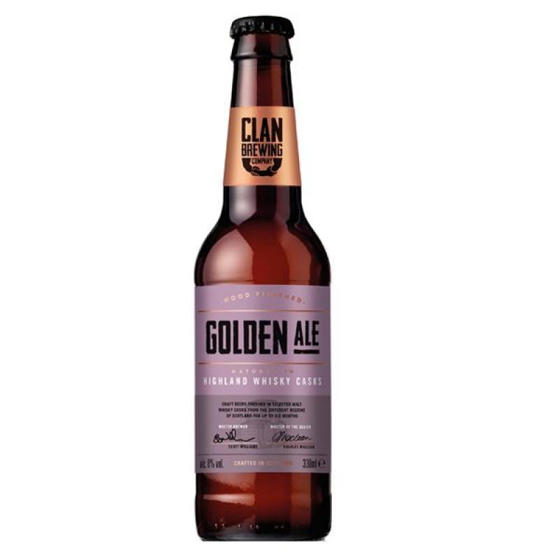 biere - CLAN BREWING GOLDEN ALE 0.33L - Planète Drinks