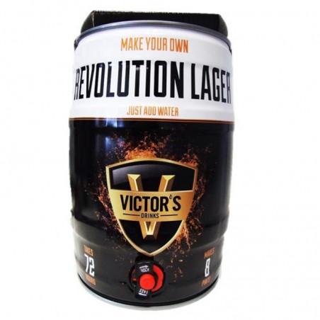 VICTOR'S DRINKS BARREL REVOLUTION LAGER FUT 4,5L