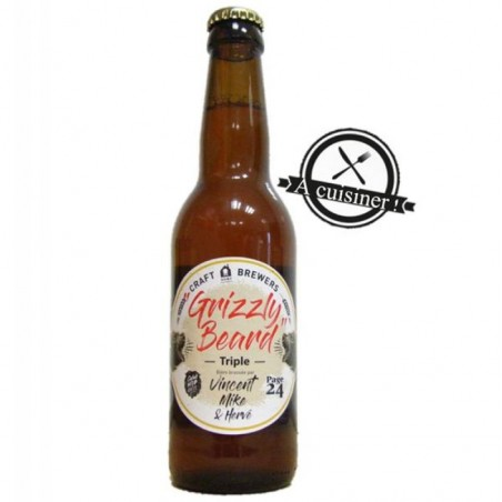 biere - GRIZZLY BEARD TRIPLE 0.33L (CUISINES) - Planète Drinks
