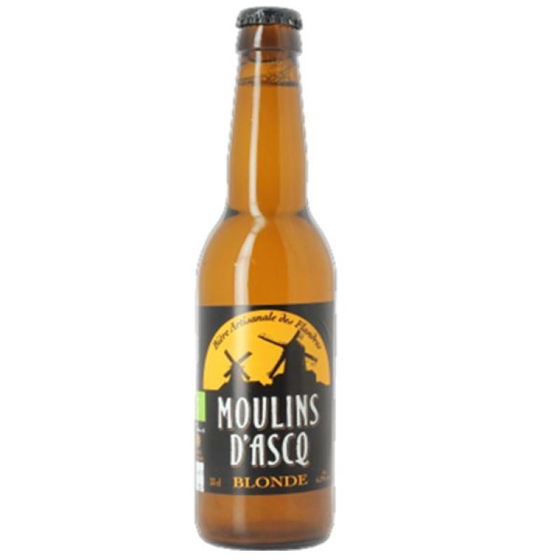 biere - MOULINS D'ASCQ BLONDE 0.33L - CERTIFIE BIO-FR-01 - Planète Drinks