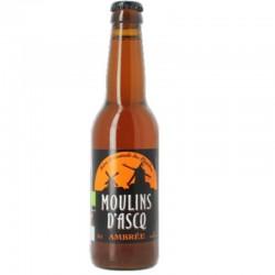 biere - MOULINS D'ASCQ AMBREE 0.33L - CERTIFIE BIO-FR-01 - Planète Drinks