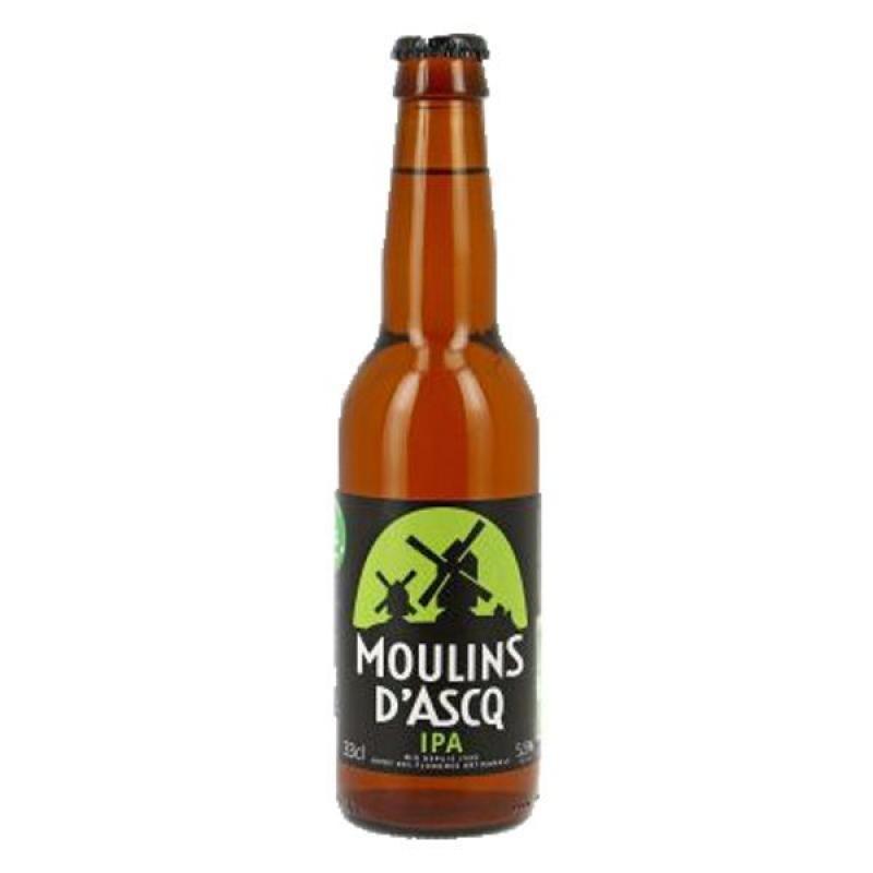 biere - MOULINS D'ASCQ IPA 0.33L - CERTIFIE BIO-FR-01 - Planète Drinks