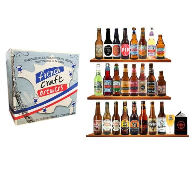 COFFRET BIERE - CALENDRIER FRENCH CRAFT BREWERS 24 B + 1 VERRE N°2 (VP) - Planète Drinks