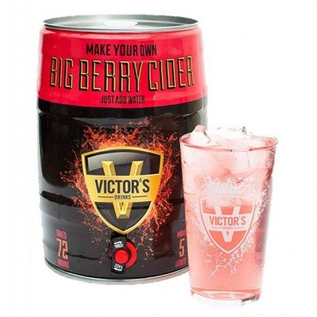 VICTOR'S DRINKS BARREL BIG BERRY CIDER 4.5L + 1 VERRE (VP)