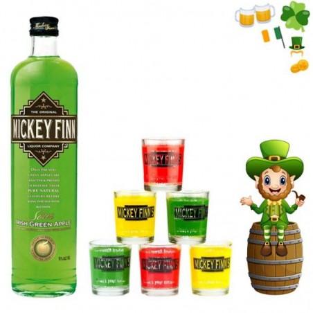 COFFRET ALCOOL - BOX MICKEY FINN'S IRISH GREEN APPLE - Planète Drinks