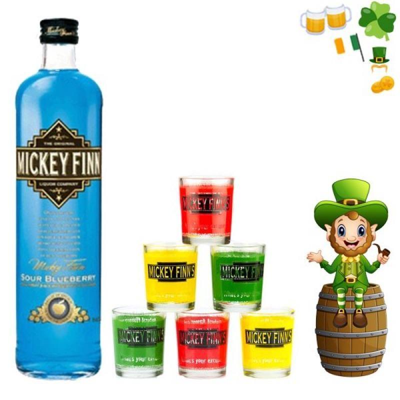COFFRET ALCOOL - BOX MICKEY FINN'S BLUEBERRY - Planète Drinks