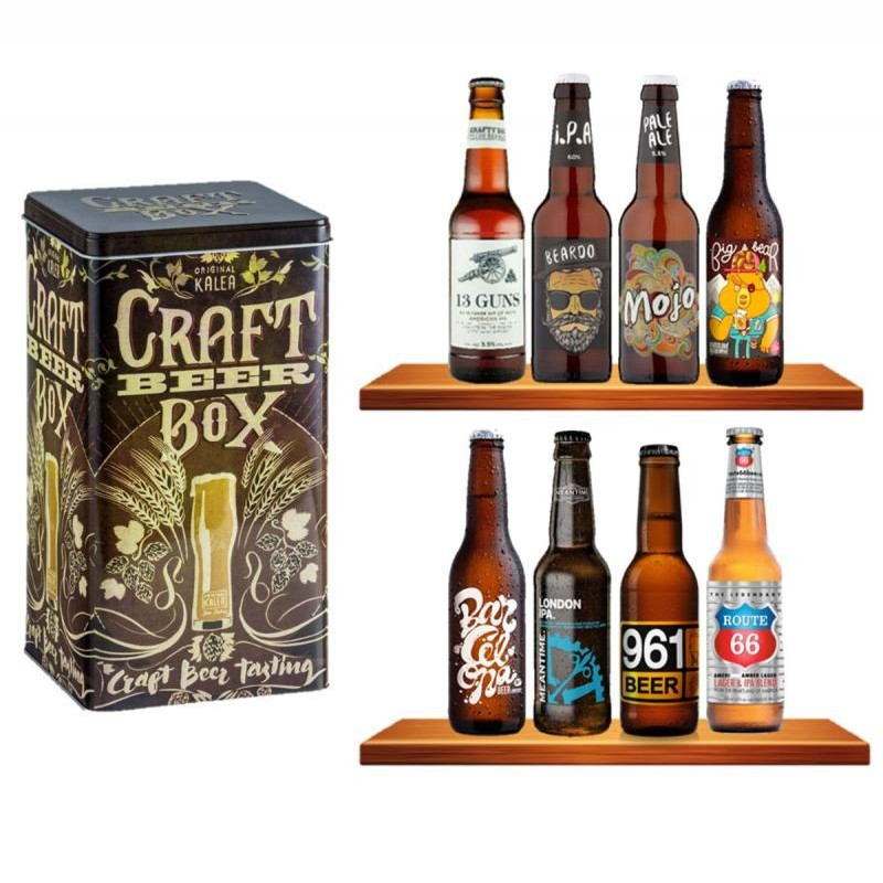 COFFRET BIERE - BOX BOITE METAL 'CRAFT' *8 BIERES CRAFTS - Planète Drinks