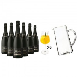 COFFRET VIN - FREIXENET KIT SANGRIA : 6 CORDON NEGRO + 1 CARAFE + 6 VERRES - Planète Drinks