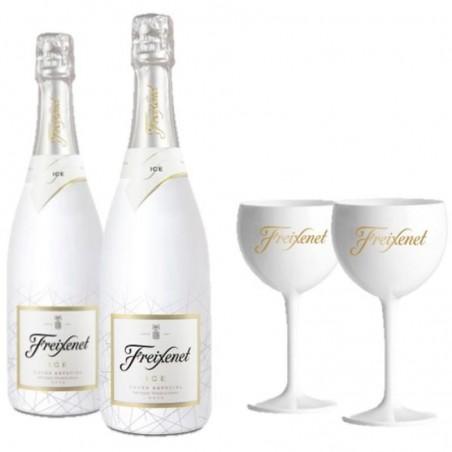 COFFRET VIN - FREIXENET KIT DEGUSTATION ICE 2 BOUTEILLES ICE + 2 VERRES - Planète Drinks