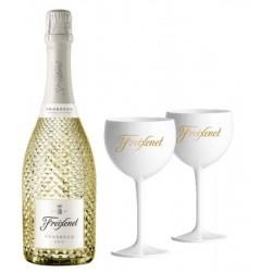 COFFRET VIN - FREIXENET KIT PROSECCO + 2 VERRES ICE - Planète Drinks
