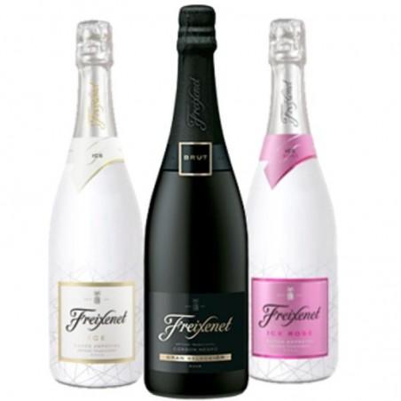 COFFRET VIN - FREIXENET KIT SOIREE BULLES : 3 BTLES (CORDON NEGRO,ICE,ICE ROSE) - Planète Drinks