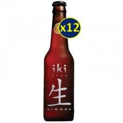 BIO - IKI BEER GINGEMBRE 12*0.33L - ECOCERT FR-BIO-01 - Planète Drinks