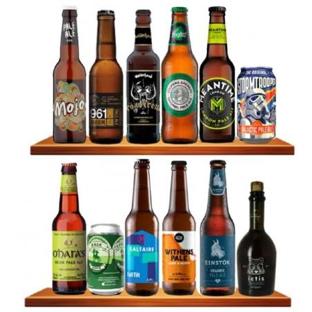 COFFRET BIERE - BOX DECOUVERTE 12 BIERES DE TYPE PALE ALE 12*0.33L (MP) - Planète Drinks