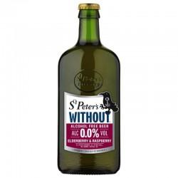 biere - ST PETER'S ELDERBERRY & RASPBERRY SANS ALCOOL 0.50L - Planète Drinks