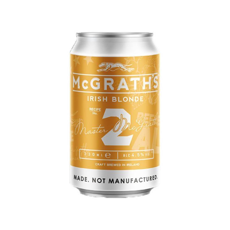 biere - MCGRATH'S CRAFT IRISH BLONDE 0.33L CAN - Planète Drinks