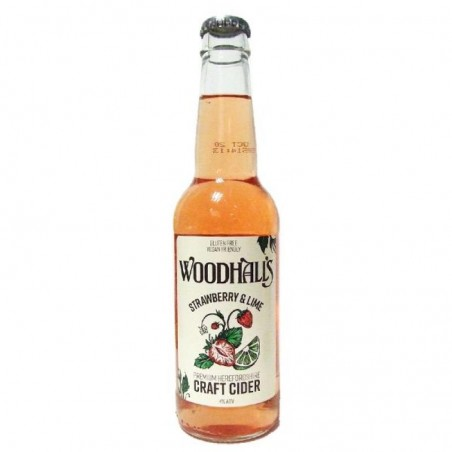 cidre - WOODHALLS STRAWBERRY & LIME 33CL - Planète Drinks
