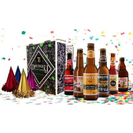 COFFRET BIERE - DISCOVERY BEER BOX HAPPY NEW YEAR 6*0.33L - Planète Drinks