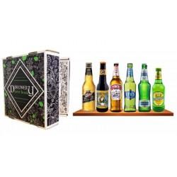COFFRET BIERE - BOX DISCOVERY BEER BOOK 6 BIERES DE TYPE LAGER/PILSNER  6*0.33L - Planète Drinks