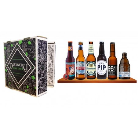 COFFRET BIERE - BOX DISCOVERY BEER BOOK 6 BIERE DE TYPE BLANCHE / HEFEWEISS 6*0.33L - Planète Drinks