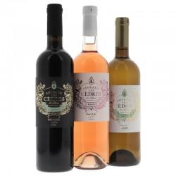 COFFRET VIN - BOX VINS LIBANAIS COTEAUX LES CEDRES 3*0.75L - Planète Drinks